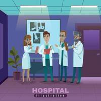 hospital illustration flat vector