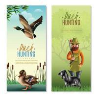 pancartas verticales de caza vector