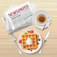 cartel de periódico de la mañana vector
