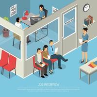 Ilustración de entrevista de trabajo vector