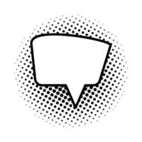 monochrome and dotted speech bubble icon vector