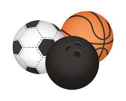 set of sports balls vector