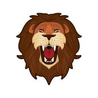 head of colorful lion vector