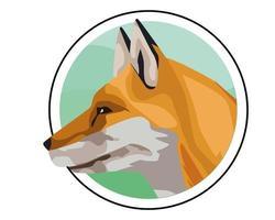 wild fox animal icon vector