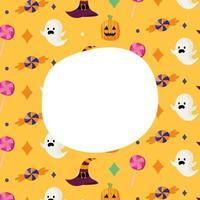 Halloween celebration pattern vector