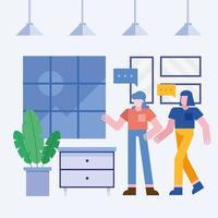 Teamwork concept with women vector