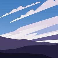 mountains and blue sky with clouds background vector