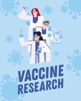 Diseño de investigación de vacuna contra el coronavirus con químicos. vector