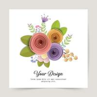Happy Valentines Day. Greeting card with paper craft design for print cards, banner, poster. Vector Eps.10 and illustration.