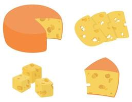 Set of cheese. vector