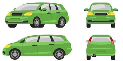 Minivan in different angles.