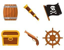conjunto de atributos piratas. vector