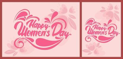 Women's Day pink templates. vector