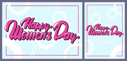 Women's Day templates in cartoon style. vector