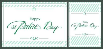 St. Patrick's Day templates. vector