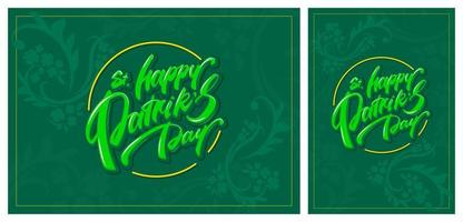 St. Patrick's Day green templates. vector