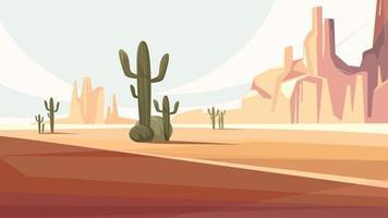 paisaje del desierto de arizona vector