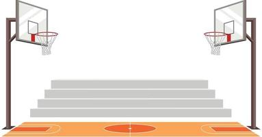 cancha deportiva de baloncesto. Ilustración de vector de partido. partido deportivo.