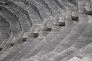 Amphitheater stairs in Bilbao city, Spain