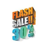 Flash sale 30 off 3d design vector