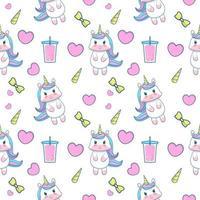 cute unicorn seamless pattern vector