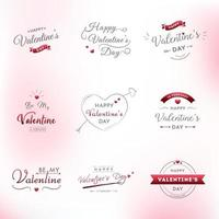 Happy Valentine's Day Typography Set