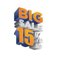 Big sale 15 off 3d design vector