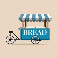 flat bread food cart perfect for design project