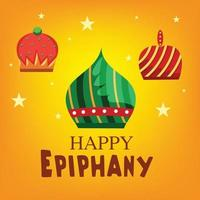 Vector illustration of a Background for Happy Epiphany.