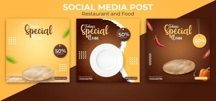 food banner ads vector template