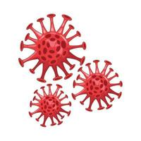 coronavirus particle isolated icon vector