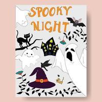 Cute spooky night halloween seasonal vector