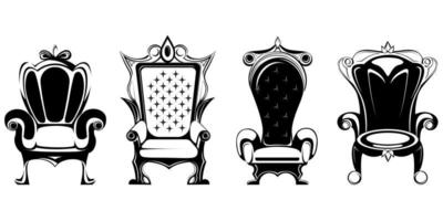 Set of different royal thrones vector