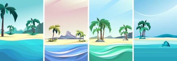 colección de islas desiertas vector