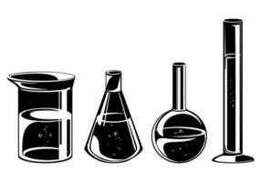 Set of different flasks vector