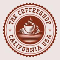 etiqueta de café redonda vintage vector