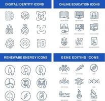 Modern technologies icons set vector