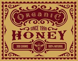 Vintage honey label for a package vector