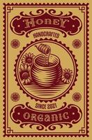 Old fashioned honey label vector