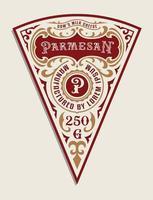 plantilla de etiqueta de queso vintage vector