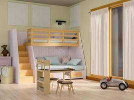 Render 3D de la habitación de los niños foto