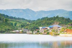 Village near the reservoir