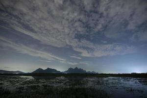 Dramatic sky at night photo