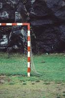 Abandoned old soccer goal photo