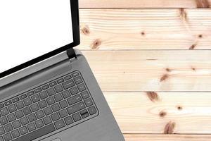 Open laptop mock-up photo