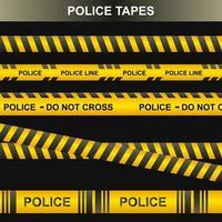 Police tape set, crime tape vector