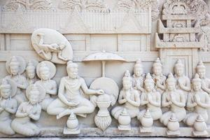 Stone carving of Buddha in Thailand
