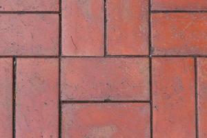 Red floor tiles photo