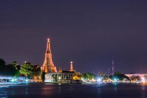 Wat Arun temple in Bangkok at sunset photo