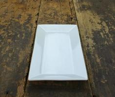 Rectangular plate on table